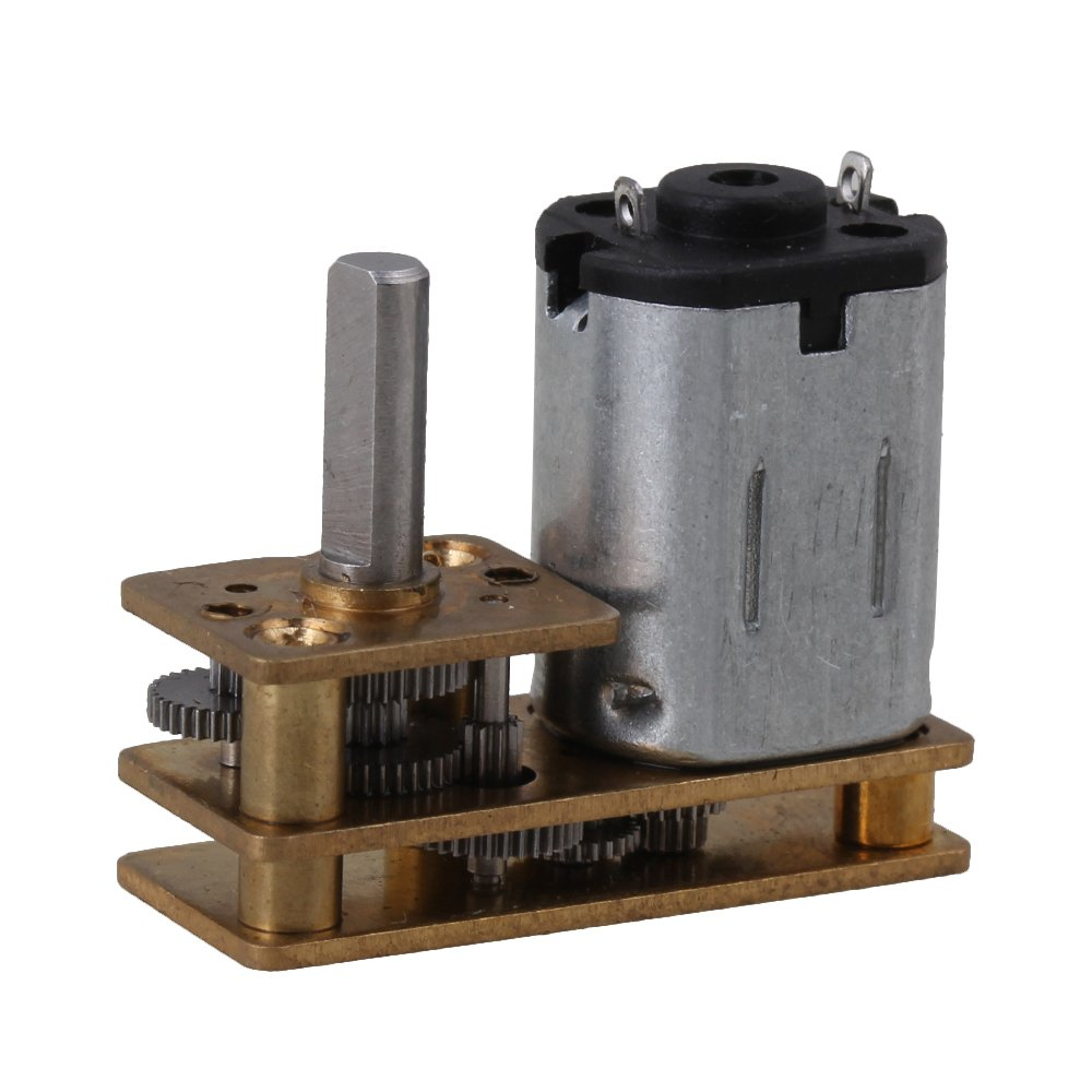 BQLZR plata oro DC 6 V 10 mm gm12-n20 Motor Micro DC Gear Caja Geared Motor para cerraduras inteligentes