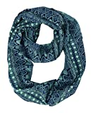 Peach Couture Womens Scarves Bohemian Scarf Tribal Scarf Aztec Scarf Blue Scarf Infinity Scarf Circle Scarf Teal