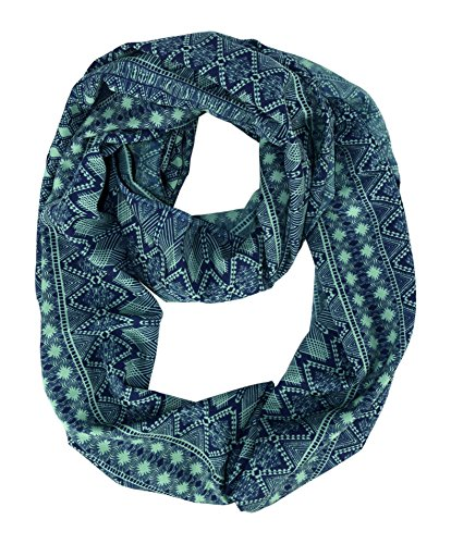 Green Paisley Scarf (Peach Couture Womens Scarves Bohemian Scarf Tribal Scarf Aztec Scarf Blue Scarf Infinity Scarf Circle Scarf Teal)
