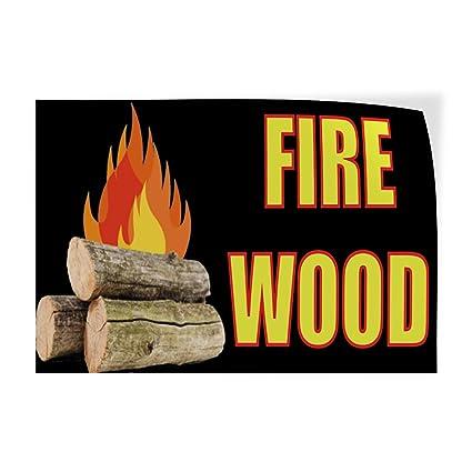 Amazon com : Decal Sticker Fire Wood #2 Business Firewood