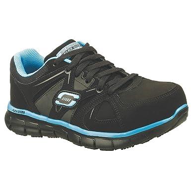 2ad155665e2e Image Unavailable. Image not available for. Colour  Skechers - 76553 - BKBL  SZ 6.5 - 3H Women s Work Shoes