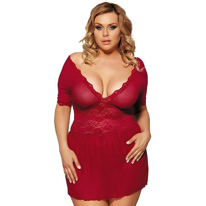 slocyclub de la mujer sexy picardías para mujer Plus tamaño lencería pijamas r70335p