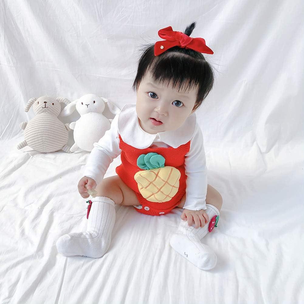 MAOMAHREWW Newborn Girls Autumn Strap Romper Three-Dimensional Print Fashion Knit Jumpsuit