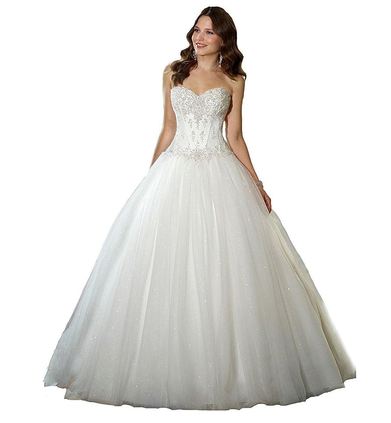 9111e1b67061 Kmformals Women s Vintage Lace Appliques Corset Back Wedding Dress Bride  Gown at Amazon Women s Clothing store