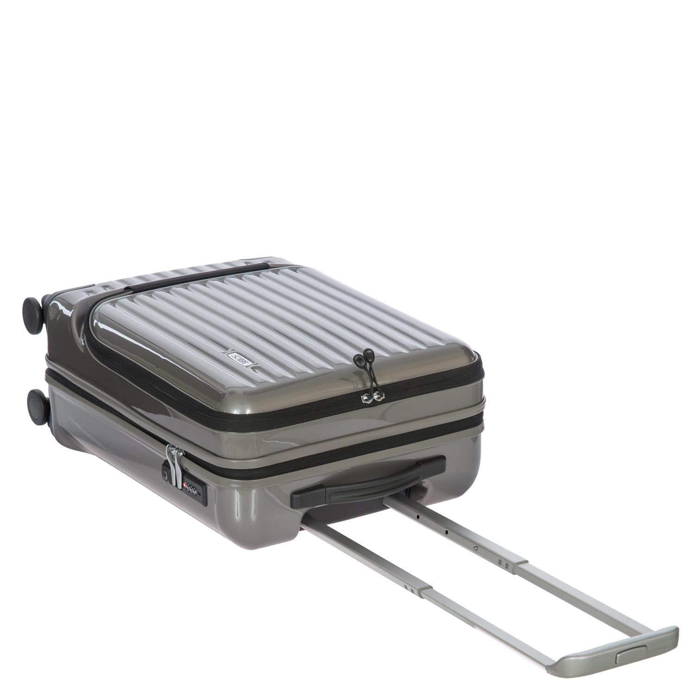 Einheitsgr/ö/ße.Silber Kabinentrolley mit Fronttasche