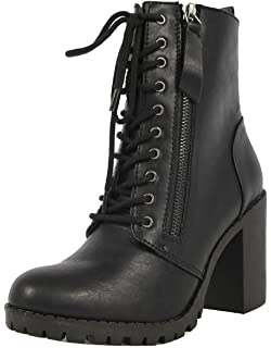 bf3823a28a7 Amazon.com | Steve Madden Women's Laurie Combat Boot | Ankle & Bootie