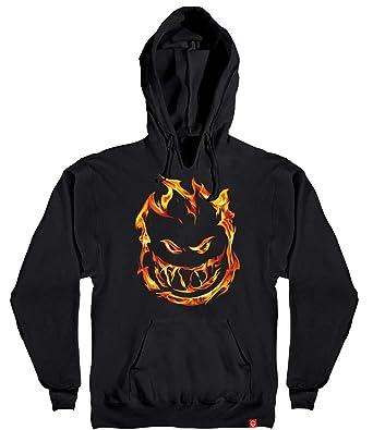 650c5798aa4c Spitfire 451 Bighead Flame Pullover Hoodie - Black Orange (Small)