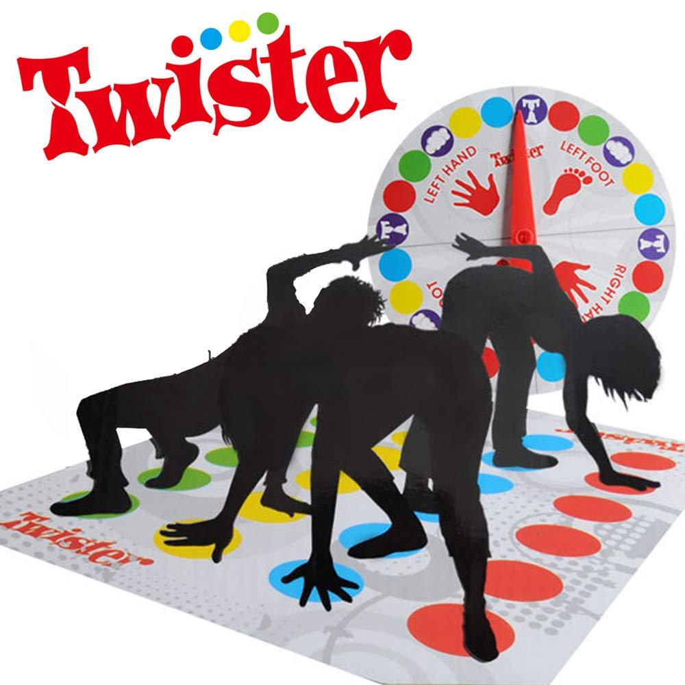 LOVEXIU Twister Game, Gesellschaftsspiele, lustige Geschicklichkeitsspiele für Kinder und Erwachsene, Familienspiel, Partyspiel,ab 6 Jahren