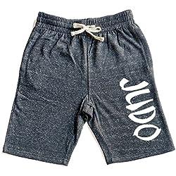Men's Graffiti Judo V439 Graphic Snow Fleece Jogger Sweatpant Gym Shorts Medium Black