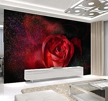 Fotomurali Photo Wall Mural Carta Da Parati 3d Luxury Beautiful Red Rose Paesaggio Carta Da Parati 3d Home Decor Soggiorno Camera Da Letto 450x300cm Carta Da Parati Amazon It Fai Da Te