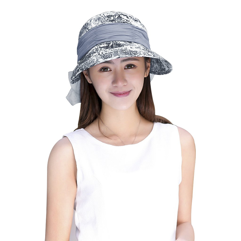 Ruixia Long Brim Fishing Flap Hat with Neck Shield UV Protection Sun Hat Summer Outdoor Legionnaire Cap Foldable Bucket Beach Hat Quick-Drying Cap for Cycling Hiking Camping