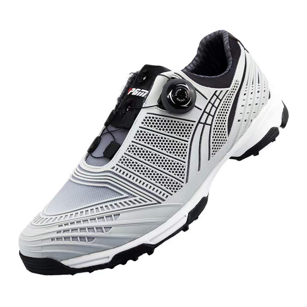 [Kayiyasu] ゴルフシューズ メンズ スパイクシューズ 運動靴 ランニングシューズ ノンスリップ 防水 26.5 cm グレー B07TGTW72W