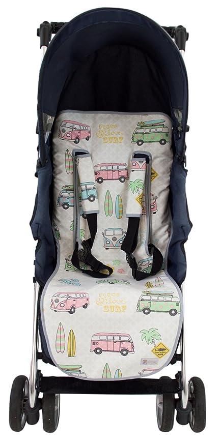 Colchoneta o funda Universal para silla de paseo o cochecito + Protector de arneses. Modelo Calaveras: Amazon.es: Bebé