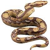 STOBOK Realistic Snake Toy Rubber Snake Figure for Halloween Prank Props