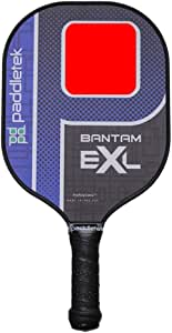 Bantam EX-L Pickleball Paddle, High Grade Polymer Composite Honeycomb, Velvet Textured Polycarbonate Surface