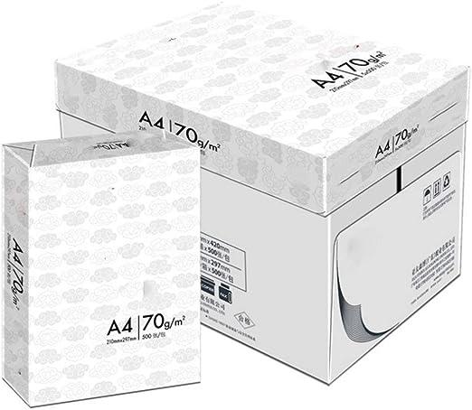 Papel A4 Los proyectos de impresión A4 madera de la copia completa de la pulpa blanca de alta Boutique Papel de oficina Papel 5 paquetes Papel De Copia De Oficina (Color :