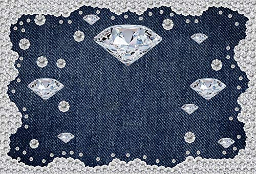 Yeele 7x5ft Diamond Denim Style Backdrop for Photography Jeans Inlaid Rhinestone Background Birthday Party Decoration Woman Kids Photo Booth Shoot Vinyl Studio Props]()