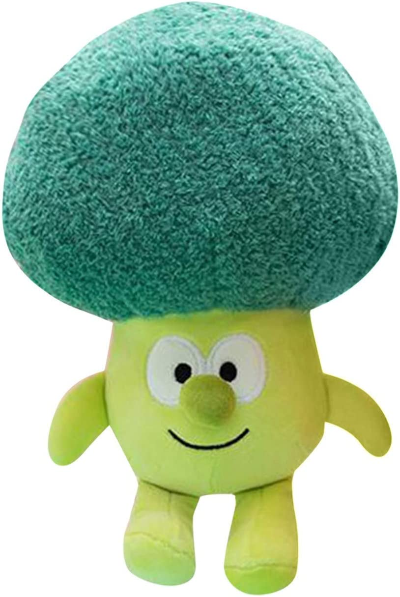 Haoawi Creative 3D Vegetable Throw Pillows Funny Food Pillow Plush Toys (Green)