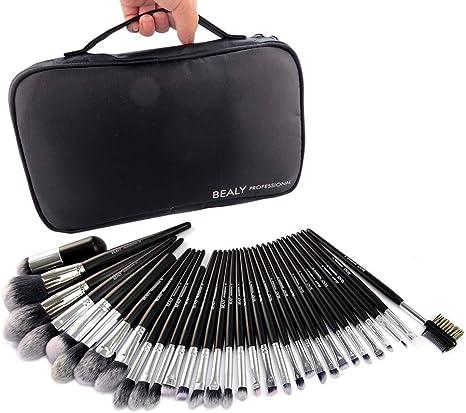 Brochas de Maquillaje 32pcs Maquillaje Profesional Powder Eyeshadow Foundation Brush Kit de Cosméticos con Estuche de Cuero Buen Regalo para los Amantes del Maquillaje: Amazon.es: Deportes y aire libre