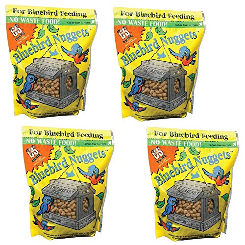 C & S B07FK6T6DB Products Blue Bird Nuggets Plus Beef Suet,Corn,Peanuts, Pack of, 4, Multi