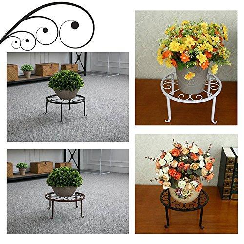 europ/äischer Queta Blumenst/änder Pflanzendekoration Innenbereich Balkon Blumentopf-Halterung Blumenregal Garten f/ür Zuhause stilvoller runder Metall-Pflanzenst/änder
