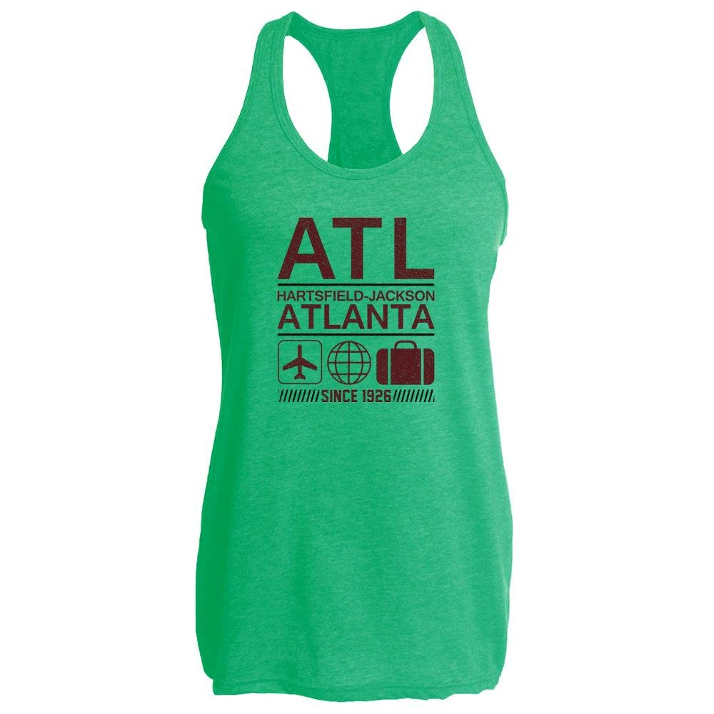 Pop Threads ATL Atlanta Airport Code Since 1926 Travel Heather Kelly M Womens Tank Top
