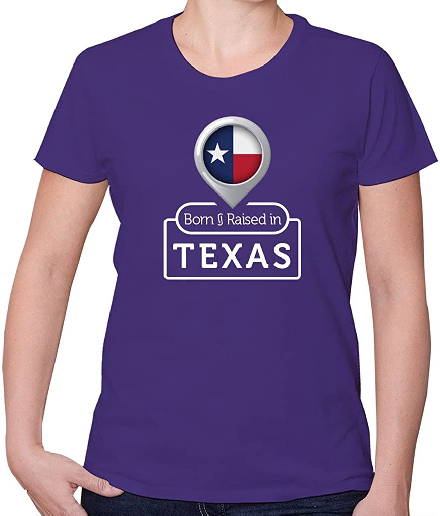 Born and Raiseed in Texas - Camiseta de Manga Corta para Mujer: Amazon.es: Ropa y accesorios