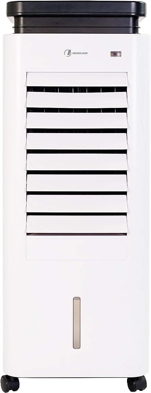 HAVERLAND CASAP | Climatizador Evaporativo Portátil Calor/Frío | 60w / 1500w | Bajo Consumo | hasta 25 m² | 5.5L | 3 Velocidad | Silencioso | Función Anti-Mosquitos