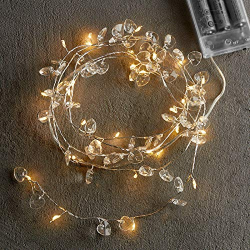 Wire Garland Heart (Factory Direct Craft Lighted Wire Garland with Crystal Heart Gem Accents)