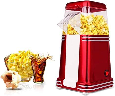 AIQQ Maquina de Palomitas Maiz-100% Libre Aceite Para Hacer Popcorn,Saludable,Fácil limpiar,Popcorn Maker,1100W Rojo -100g Party Time Maquina Palomitas: Amazon.es: Hogar