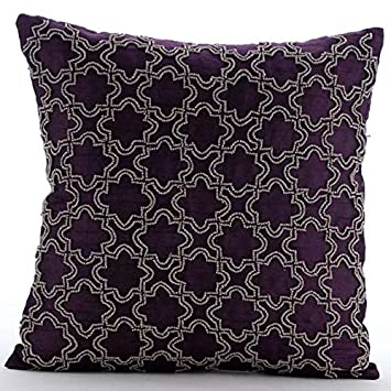 Amazon.com: Lujo Púrpura Fundas de Almohada, Beaded ...