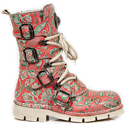 New Rock Boots M.1473-s38 Gotico Hardrock Punk Unisex Stiefel Arancione
