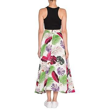 Boho falda larga de playa de verano con estampado floral, para ...