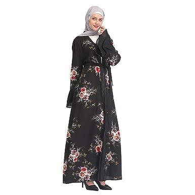 dcc51a07a9972 Amazon.com: Dainzuy Muslim Dresses for Women Summer, Lace Fashion ...