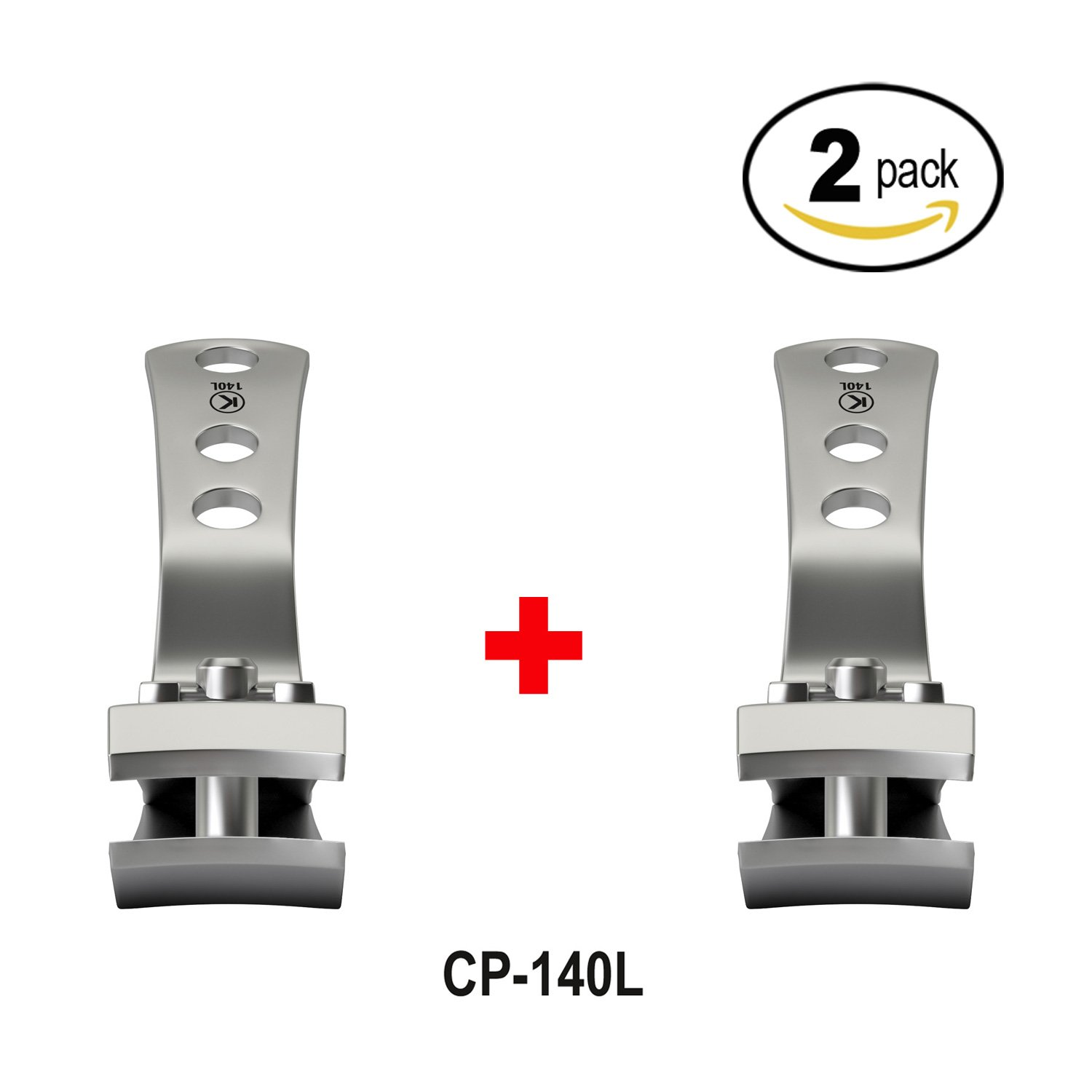 Bundle of 2 Items: Kohm CP-140L 4mm Wide Jaw Curved Blades Nail Clipper (2 Pack)