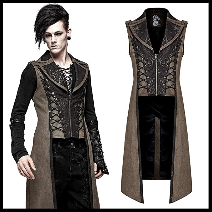 Amazon.com: Punk Rave Hombres Steampunk Retro Palace Chaleco ...