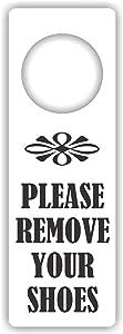 MySigncraft Please Remove Your Shoes Door Hanger Sign