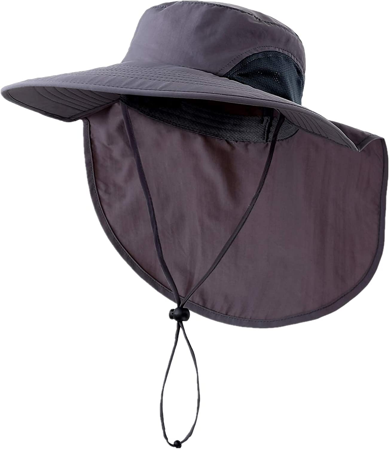 Home Prefer Outdoor UPF50+ Sun Hat Wide Brim Mesh Fishing Hat with Neck Flap
