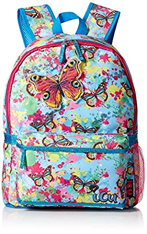 ICU Girls' Butterfly Splatter Backpack, Multi (Backpack With Butterflies)