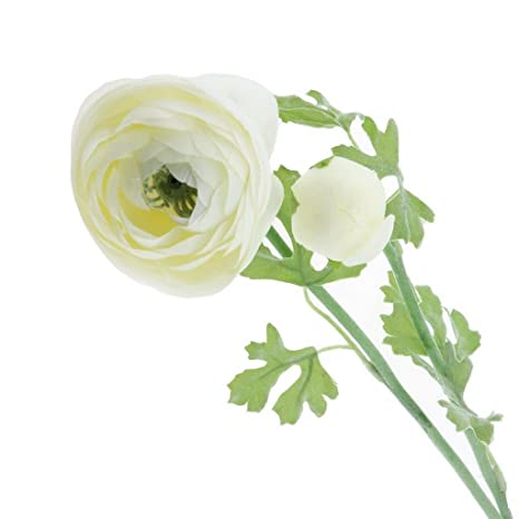 Amazon Gresorth 23 Artificial White Ranunculus Flower Fake