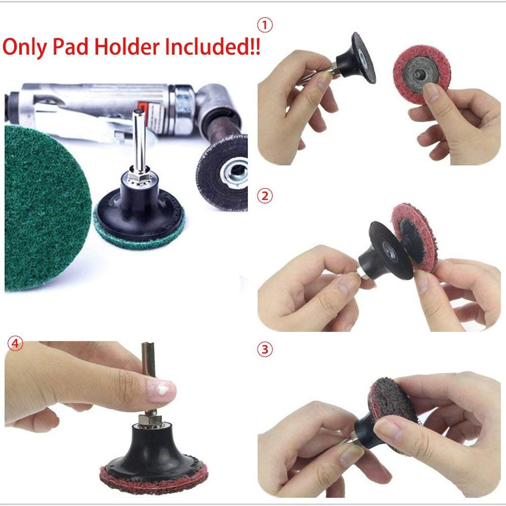 Yakamoz 2Pcs 2-Inch Roloc Sanding Discs Holder Roll Lock Disc Pad Quick Change Adapter with 1//4 Shank