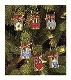 The Lakeside Collection Set of 6 Mini Mason Jar Ornaments Holiday Xmas Decor offers