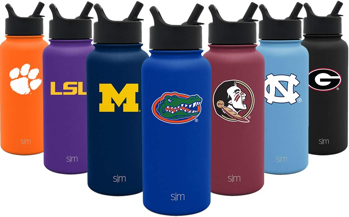 Simple Modern Florida Gators 32oz Summit Water Bottle with Straw Lid - Mens Womens Gift University NCAA College Vacuum Insulated Stainless Steel Travel Flask