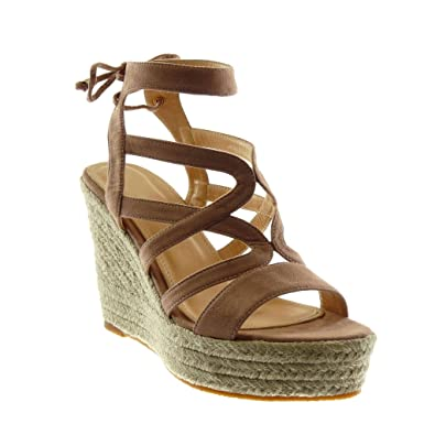 1aa97a674a3a Angkorly Women s Fashion Shoes Sandals Mules - Platform - Gladiator - Cord  - Braided - Multi