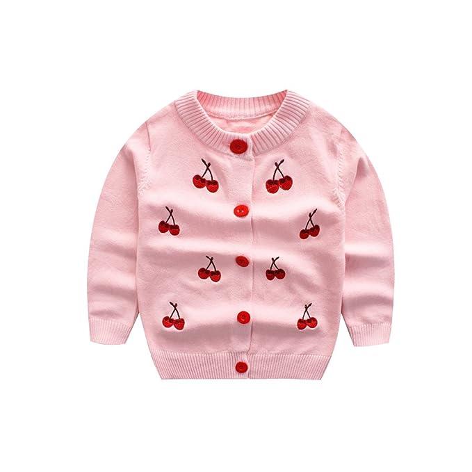 Amazon.com: weddingpach niños niñas tejer chaqueta de punto ...