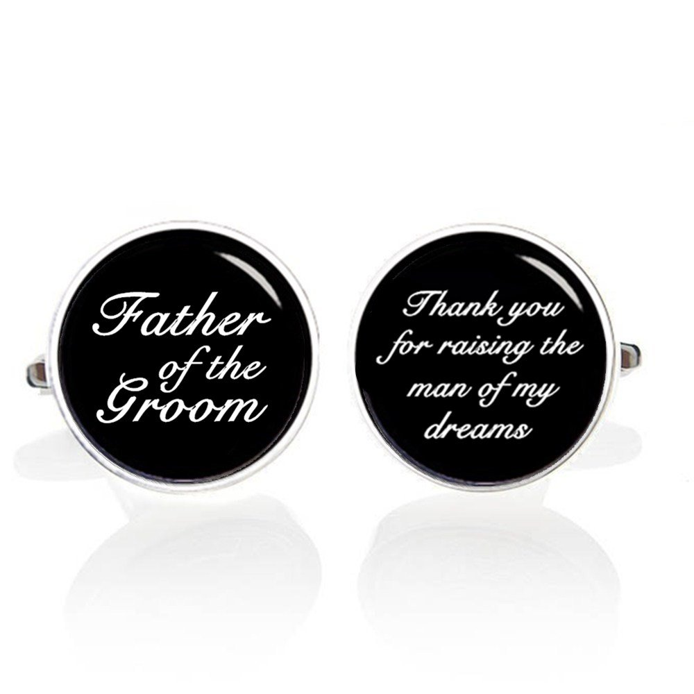 Kooer Father of the Groom Cufflinks Custom Wedding Cuff Links Handmade Personalized Cufflinks For Father by Kooer (Image #2)