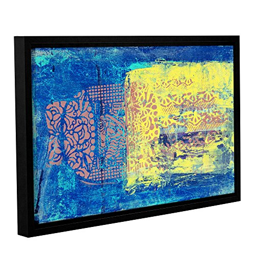 Blue with Stencils by Elena Ray Framed Painting Print on Wrapped Canvas 0ray061a2436f