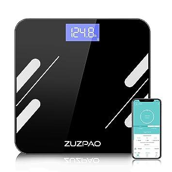 Báscula de Baño Zuzpao Báscula Grasa Corporal, Básculas Digitales con App y 14 Datos del Cuerpo, Balanza Baño para Peso, Músculo, Grasa Corporal, IMC, ...