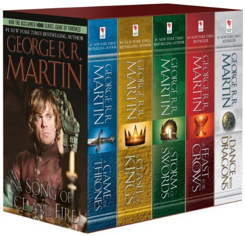 By George R.R. Martin - George R. R. Martin's A Game of Thrones 5-Book Boxed Set (Song of Ice and Fire series): A Game of Thrones, A Clash of Kings, A Storm of Swords, A Feast for Crows, and A Dance with Dragons (Mti)
