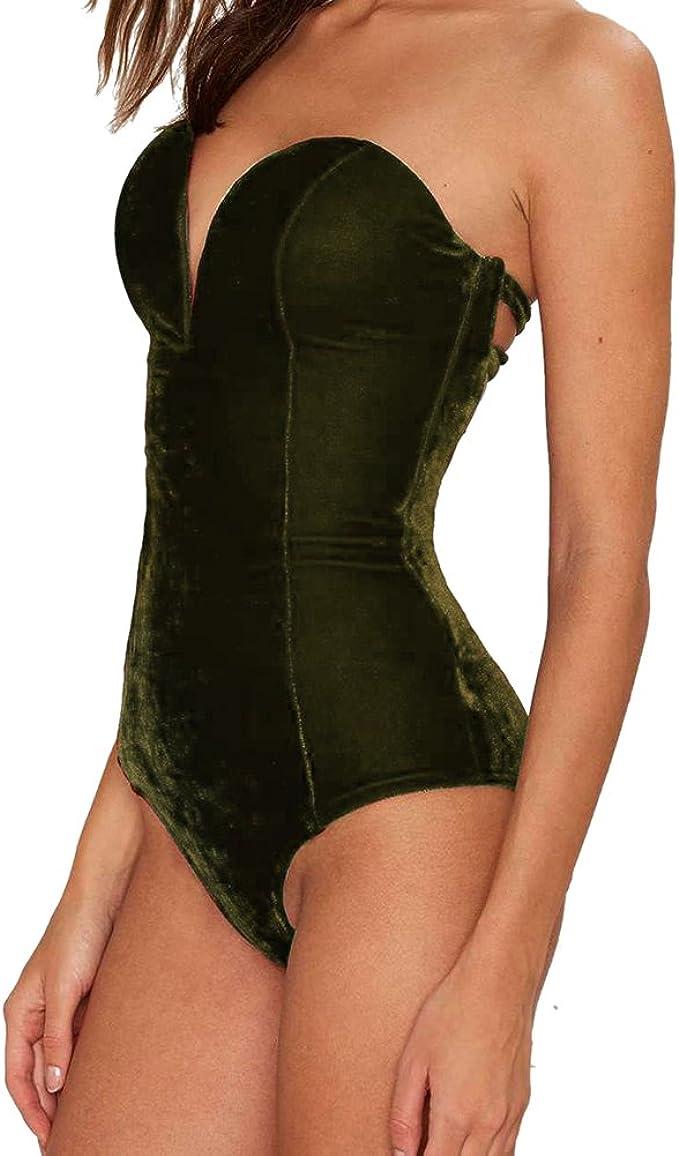 Dingcaiyi Body Elástico de Mujer Bodysuit Bodycon Slim Camisa con Sin Mangas Sexy y Moda Mono Leotardo Jumpsuit para Verano y Primavera: Amazon.es: Ropa y accesorios
